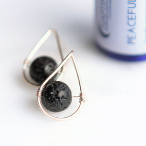 Teardrop Aromatherapy Post Earrings