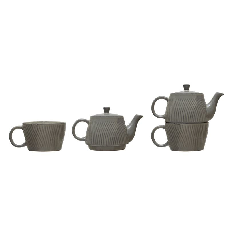 Stoneware Tea for One