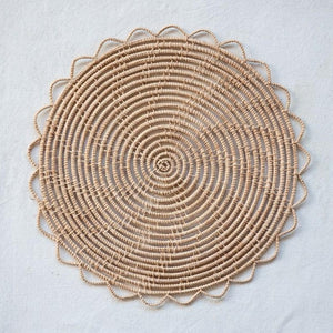 Round Natural Woven Palm Place mat