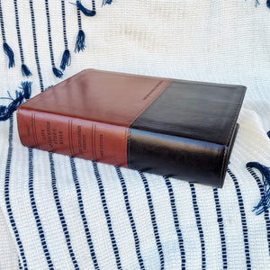 Life Application Study Bible - NKJV - Brown/Tan LeatherLike