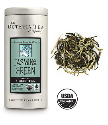 Jasmine Green - Organic, Fair Trade Tea Tin