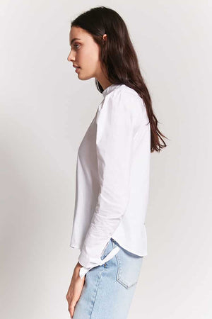 Back Button Cotton Top