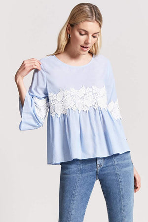 Front Lace Patch Top