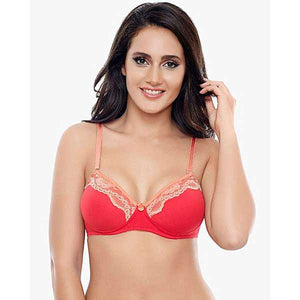 Border Embroidered Bra- 5 Colors- L006
