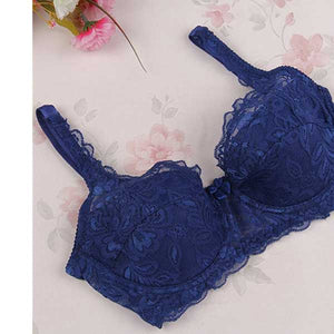 Sexy Embroidered Push Up Bra- 5 Colors- 0022