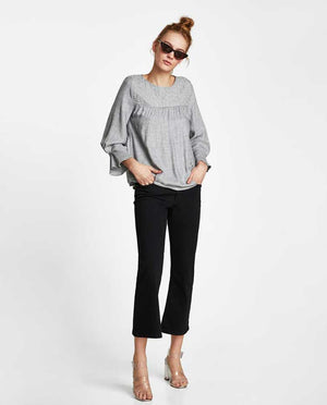 ZARA Grey Top with Beads