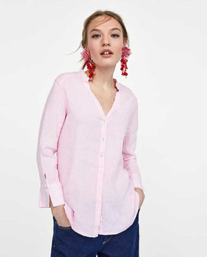 Tommy Plain Pink Shirt