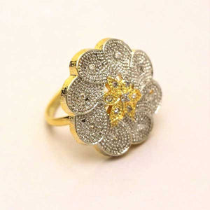 Beautiful Design Ring with Embossed American Stones