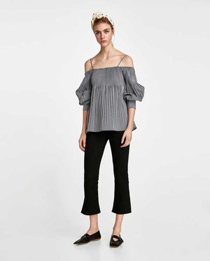 Straped Shoulder Off Shoulder Top