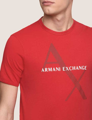 AX Printed T-Shirt- Red