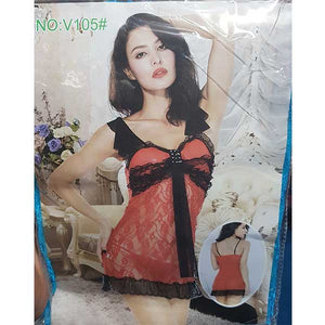 Sexy Baby Doll Nighty with Panty- L042