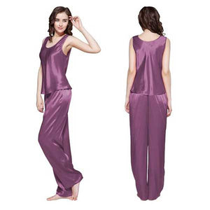 Silk Top & Trouser Nighty- 4 Colors- C021
