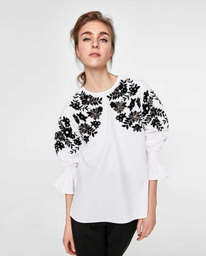 ZARA Embroidered Top- Z0A25