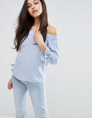 Sleek Design Off Shoulder Top