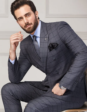 Double Breasted Men Suit- 2 Piece- M04