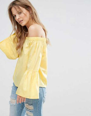 ZARA Off Shoulder Top- Z0A1