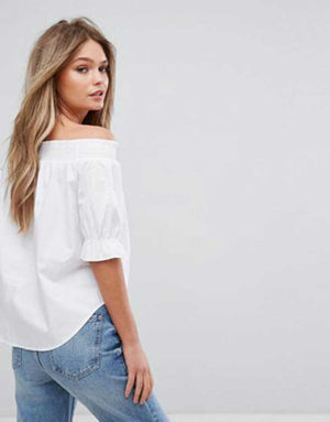 Sleek Off Shoulder Top- M0A12