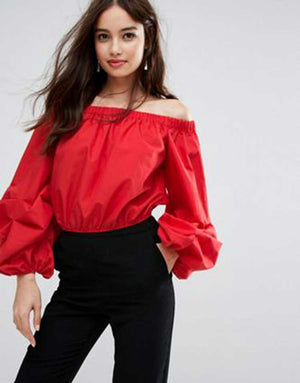ZARA Off Shoulder Top- Z0A2