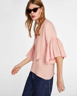 ZARA Stylish Shirt Pink- ZA0178