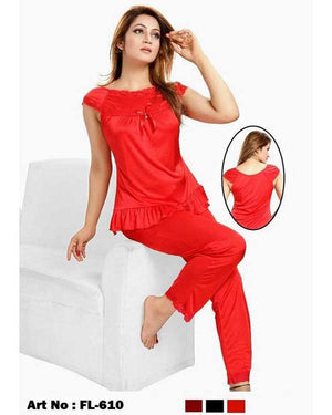 2 Pcs Full Nighty- N22- 3 Colors