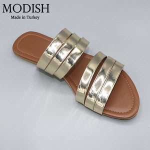Modish 6 Strap Stylish Slide- 4 Colors- M0055