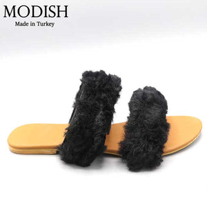 Double Fur Slide- M0058