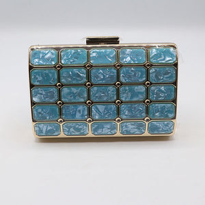 Marble Textured Evening Clutch- 5 Colors- M028
