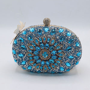 Multistones Fancy Clutch- 3 Colors- M029