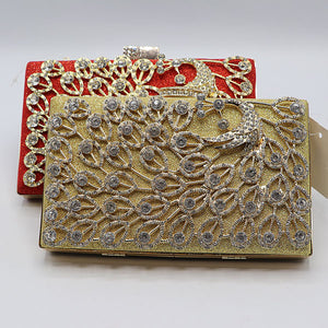Peacock Design Fancy Clutch- 2 Colors- M033