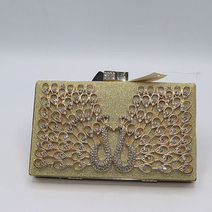 Peacock Love Design Fancy Clutch- M035