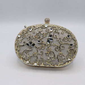 Oval Shape Fancy Clutch- M036