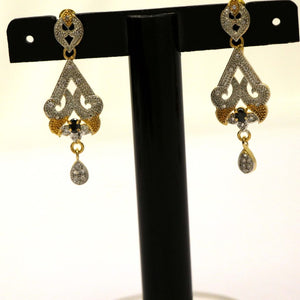 Beautiful Sensational Stones Embossed Earing