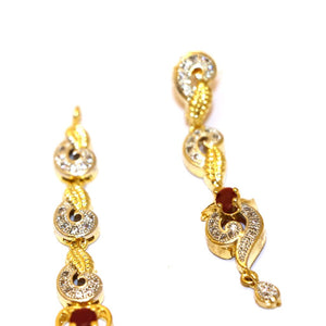 1 Kerate Gold Necklace & Earing Set- 001