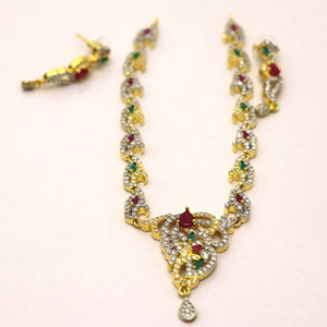 1 Kerate Gold Necklace & Earing Set- 002