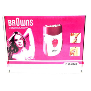 Browns Lady Hair Remover 2 in 1- KM-2078