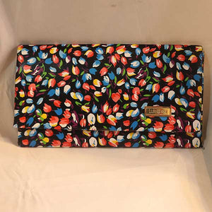 Flower Print Button Pouch