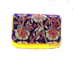 Flower Print Crossover Leather Bag