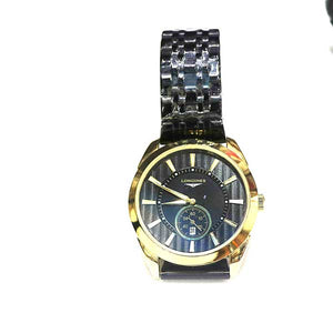 Stainless Steel With Black Dial Watch - A008