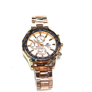 Golden Stainless Steel Watch- A0022