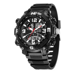 Black Sports Watch with Digital Display - K0015