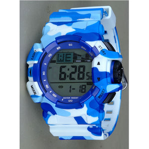 Blue Army Digital Watch - K0019