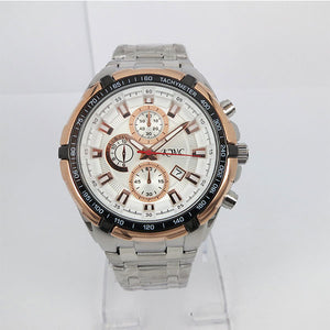 Stainless Steel & White Dial Watch - K0022