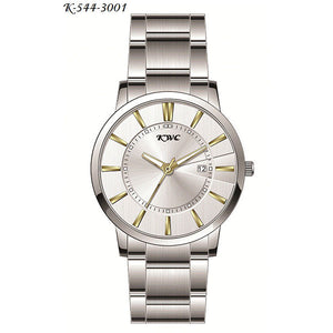 Stainless Steel & White Dial Watch - K0024