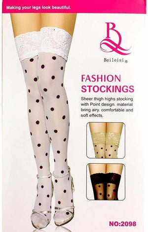 Polka Dot Stocking- 2 Colors