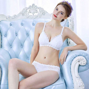 Sleek Lace Bra & Panty Set- 2 Colors