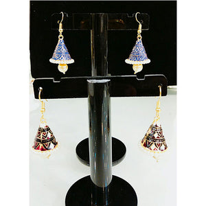 Multi Color Cap Shape Indian Jhumki- C015
