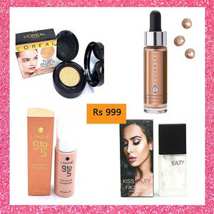 Deal 11 ( Foundation, Highlighter, Primer, Liquid Face Powder)
