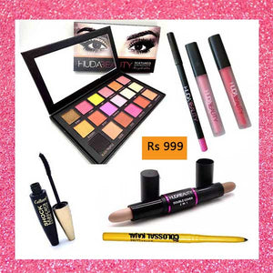Deal 12 (Eye Shade Pallete, Contour Stick, Kajal, Mascara, Lip Gloss, Lip Contour)