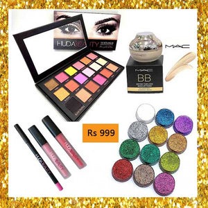 Deal 13 (Eye Shade Pallete, BB Cream, Lip Gloss, Lip Contour, Glitter Shades)