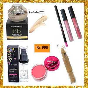 Deal 4 (Mac BB Cream,Mac Primer,Highlighter,Blush,Lip Gloss,Lip Contour)